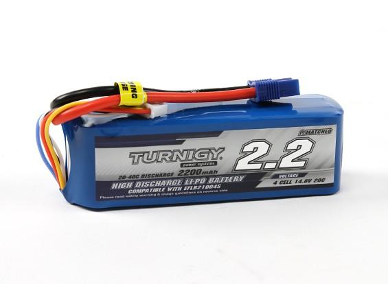 Turnigy 2200mAh 4S 20C LiPoly Аккумулятор ж / EC3 (E-Flite совместимый)