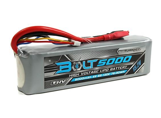 Turnigy Болт 5000mAh 4S 15.2V 65 ~ 130C высокого напряжения LiPoly Pack (LiHV)