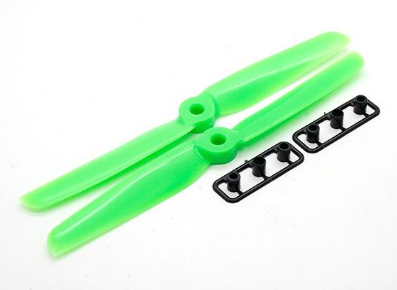 Gemfan 6030 пропеллеры CW / CCW Набор Толстые концентратор (зеленый)
