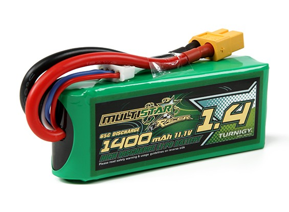 MULTISTAR гонщик серии 1400mAh 3S 65C Lipo обновления для FPV Minis (Gold Spec)
