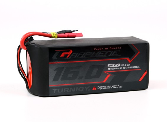Turnigy Графен Professional 16000mAh 6S LiPo 15C Аккумулятор ж / 5.5mm разъем Пуля