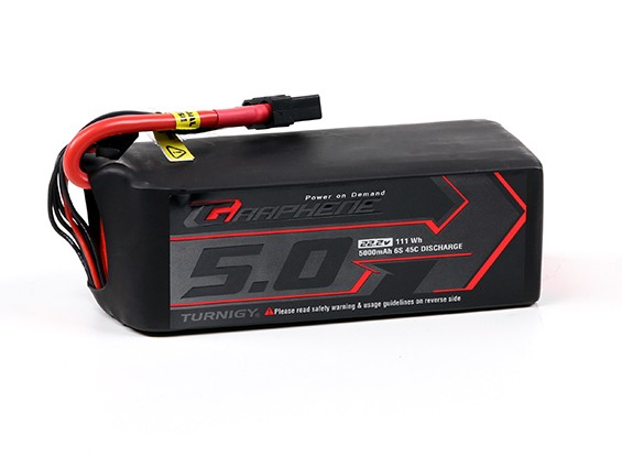 Turnigy Графен 5000mAh 6S LiPo 45C Аккумулятор ж / XT90