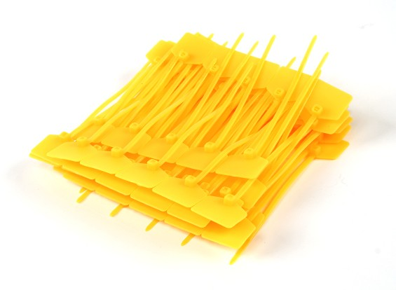 Кабельные стяжки 120 мм х 3 мм Желтый с Marker Tag (100шт)