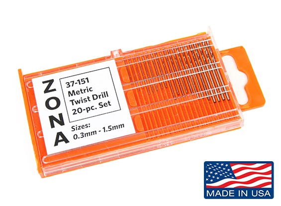 Zona 20pc High Speed сверл Set (.3mm-1,5мм)