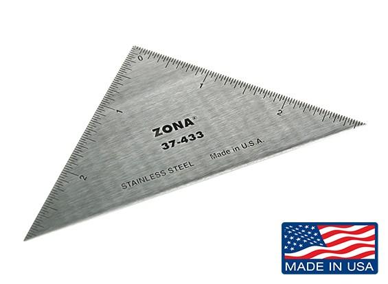 """Zona Precision 3 """"из нержавеющей стали Треугольник Линейка"""