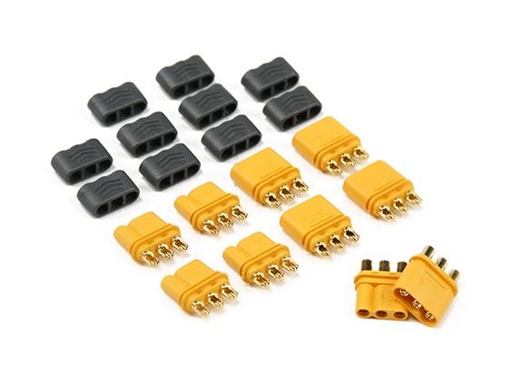 MR30 - 2.0мм 3 Pin Мотор ESC Connector (30A) мужчина / женщина (5 комплектов / мешок)