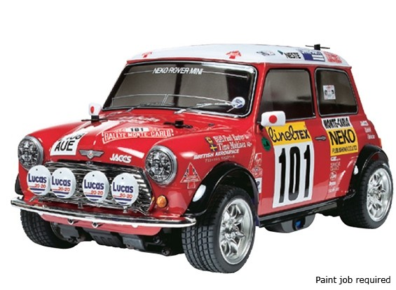 Tamiya 1/10 Scale Mini Cooper 94 Monte Carlo M-05 Шасси ж / ESC 58483