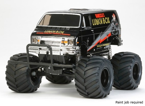 "Tamiya 1/12 Scale Закуска ""Black Edition"" Monster Truck Kit 58546"