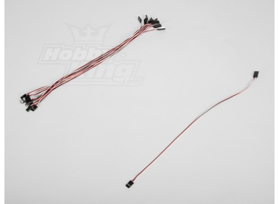 40CM Servo Lead (Futaba) 32AWG Ultra Light (10шт / комплект)