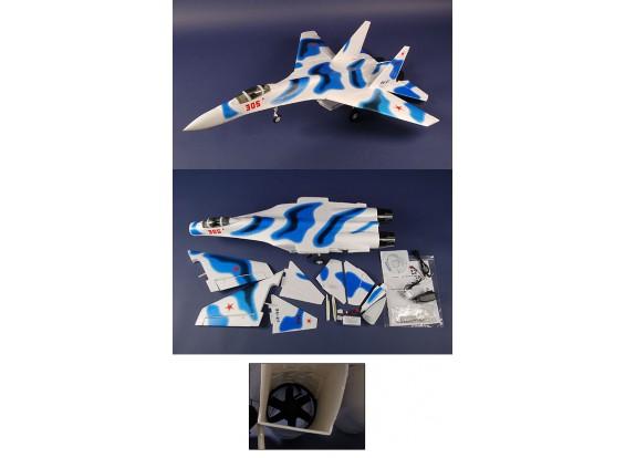 SU27 Jet 97% в формате RTF ж / близнец бесщеточный EDF
