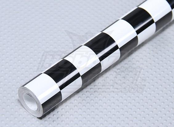 Покрывающей пленки Гриль-работа черный / белый Малые (20мм) Квадраты (5mtr)