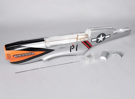 P-40N (серебро) 1700мм - Замена Фюзеляж