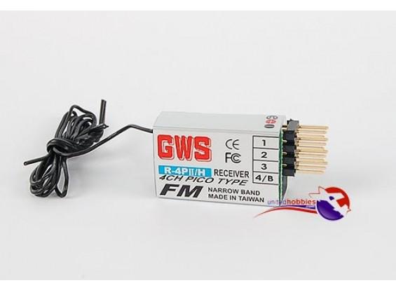 GWS R4 PII 4Ch FM Пико приемник 35MHz
