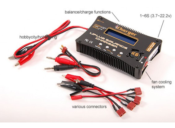 iCharger IC6 Цифровой зарядное устройство Balance 6Cell