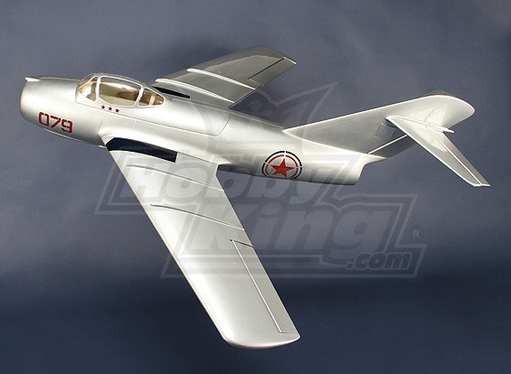 Mig-15 Стекловолокно 90mm EDF Jet, 1127mm (ARF)