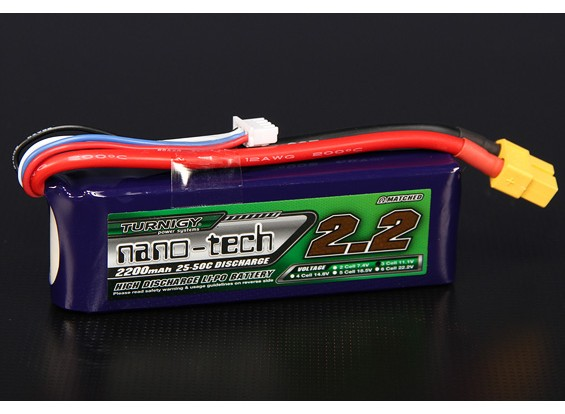 Turnigy нано-технологий 2200mah 3S 25 ~ 50C Lipo обновления