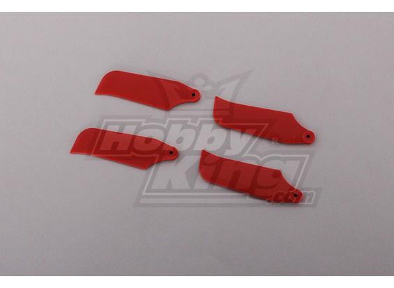 450 Размер Heli Красный Лезвие Хвост (2pairs)