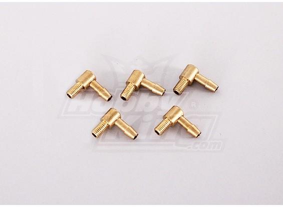90 градусов Brass Топливопровод (5шт / мешок)