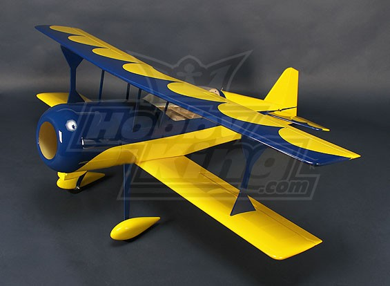 HobbyKing® ™ Питтс-S12 Python (желтый / синий) EP 1370mm (ARF)