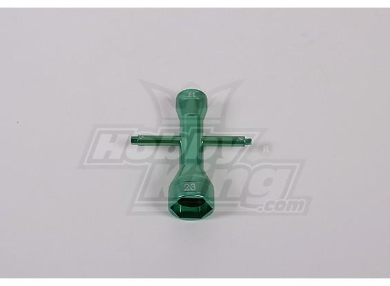 Крест ключ (17MM / 23MM, 1 шт / комплект)
