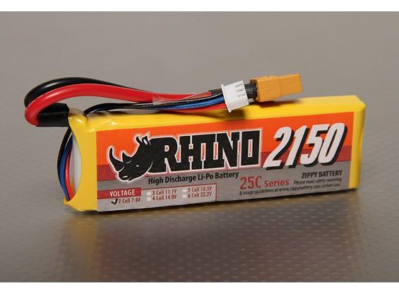 Rhino 2150mAh 2S 7.4V 25C LiPoly пакет