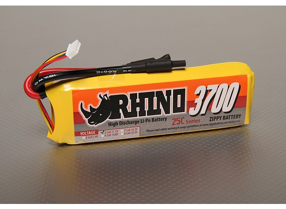 Rhino 3700mAh 3S 11.1V 25C LiPoly пакет