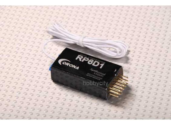 Corona синтезатором Dual-конв приемник 6Ch 72МГц