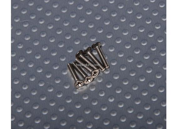 Винт с потайной головкой M2x10