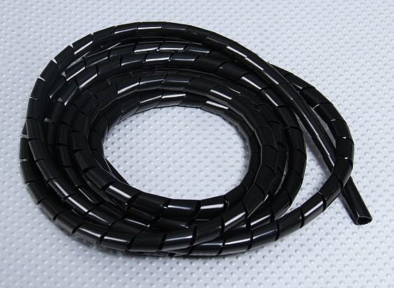 Спираль обертка трубка ID 9мм / OD 10 мм (черный - 2 м)