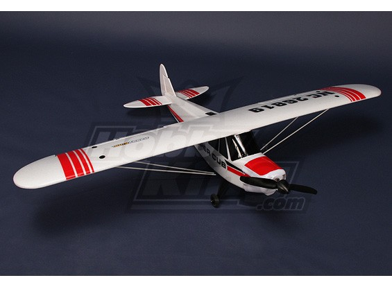 Piper PA-18 SuperCub Plug-N-Fly 18A Brushless ж / 3 сервоприводы EPO