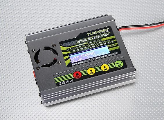 Turnigy 6-10-зарядное устройство и разрядник 200W Баланс