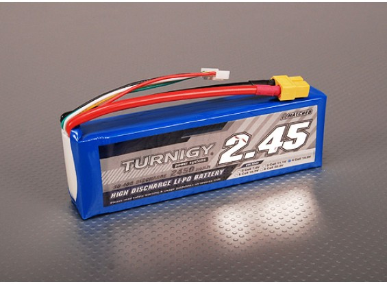 Turnigy 2450mAh 4S 30C Lipo обновления