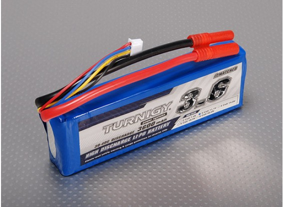 Turnigy 3600mAh 3S 30C Lipo обновления