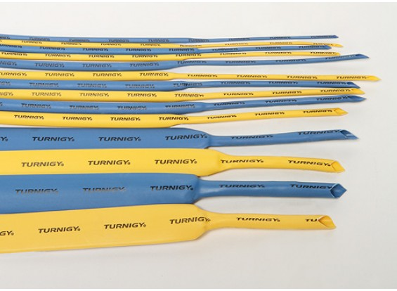 Turnigy термоусадочная трубка 10мм желтый (1mtr)