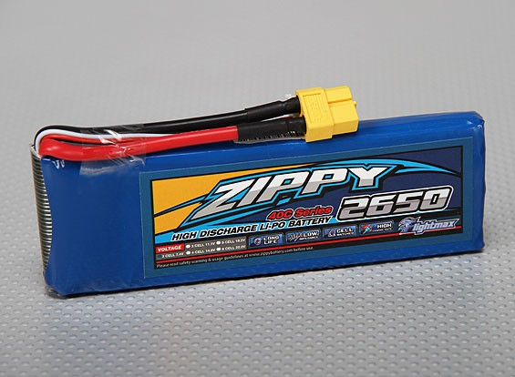 ZIPPY Flightmax 2650mAh 2S1P 40C