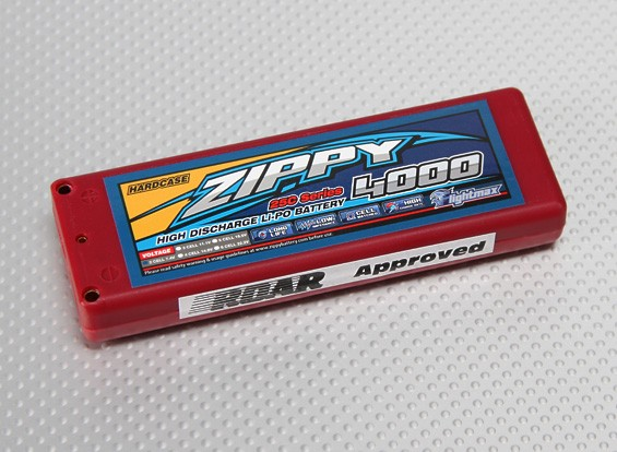 ZIPPY Flightmax 4000mAh 2S1P 25C Автомобиль LiPoly (ЕДОР Approved)