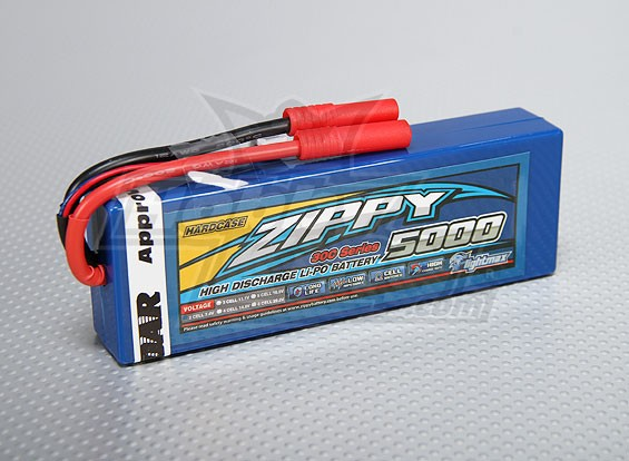 ZIPPY Flightmax 5000mAh 2S1P 30C Hardcase упаковка (ЕДОР Approved)