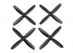 Dalprop Q4045 Bull Nose 4 Blade Propellers CW/CCW Set Black (2 pairs)