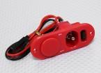 Heavy Duty RX коммутатор с портом зарядки и топливом Dot Red
