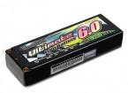 Turnigy нано-технологий Окончательный 6000mAh 2S2P 90C Hardcase Липо Pack (ЕДОР & BRCA Approved)