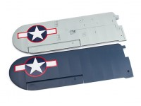 H-King J3 Navy Cub - Main Wing Set with Applied Decals