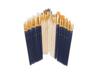 30 Pieces Paint Brush Starter Set