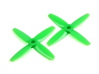Gemfan 3035 Bullnose Polycarbonate 4 Blade Propeller Green (CW/CCW) (1 Pair)