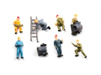 1/87th (HO scale) Assorted Railway Personnel (10pcs)