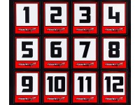 Trackstar Racing Number Vinyl Decals - Large Club Pack (50 Sheets)