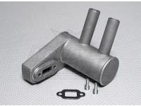 Питтс Глушитель для 26cc газового двигателя