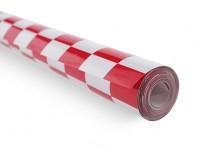 Покрывающей пленки Chequer-работа Красный / Белый Малые (20мм) Квадраты (5mtr)