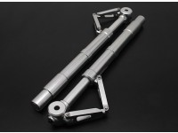 Turnigy 60 ~ 90 размер сплава Перепрыгиваемый Oleo стойки амортизатора с продольный рычаг (140мм) 2pc