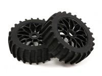 1/8 Шкала Черный Мульти спицевые колеса с веслом Style Tyres (2рс)
