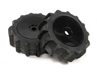 1/8 Scale Black Pro Dish колеса с Paddle Style Шины (2pc)